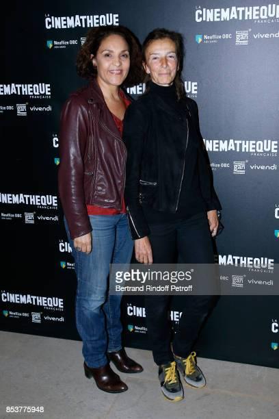 Actress Farida Rahouadj and choreographer Chris Gandois attend the 'Un beau soleil interieur' Paris Premiere at La Cinematheque on September 25 2017...