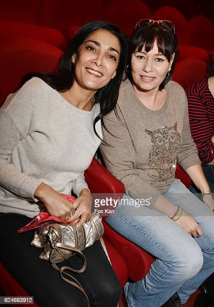 Actress Fatima Adoum and producer Elisabeth Deshayes attend 'Un Gout D'Amertume' Screening Party at Le Lincoln Cinema on November 20 2016 in Paris...