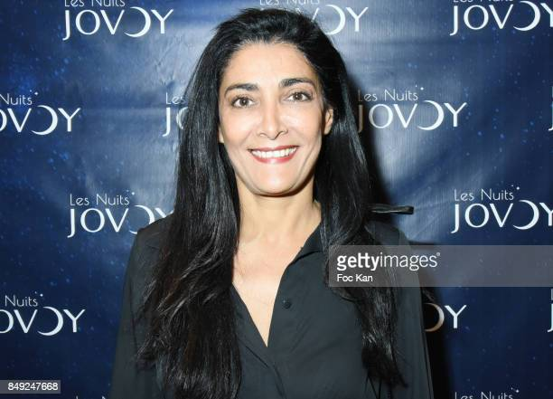 Actress Fatima Adoum attends 'Nuit Jovoy Rose Millesimee' at Jovoy Store on September 18 2017 in Paris France