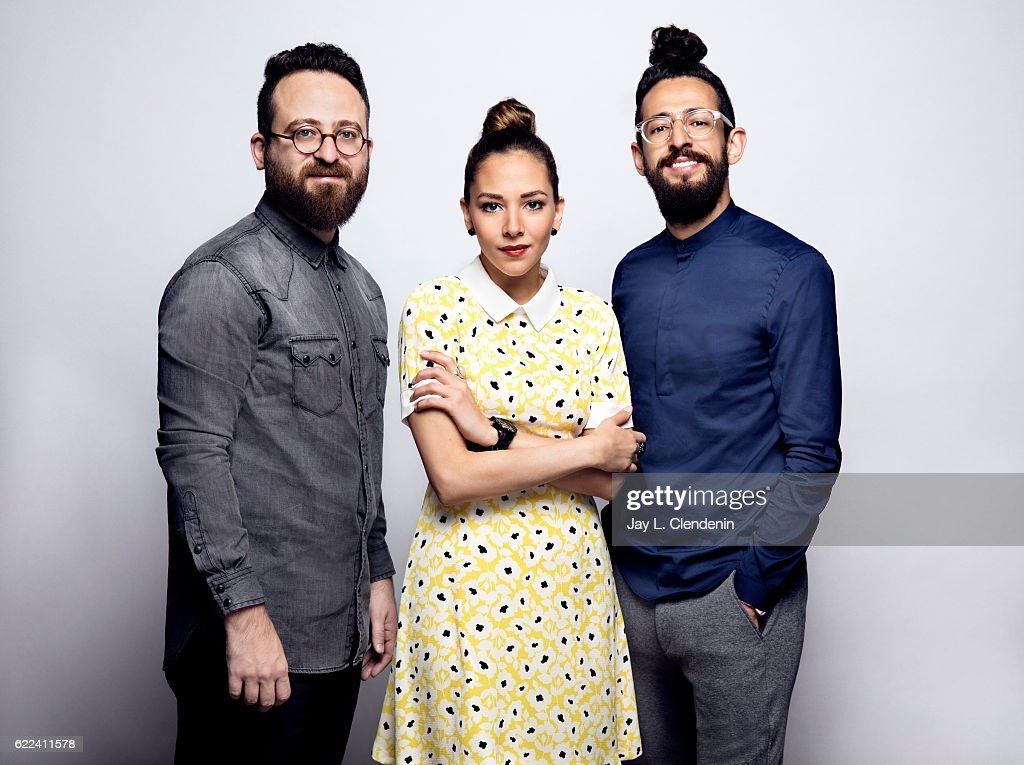 Actress Fatima al Banawi, director Mahmoud Sabbagh, and actor Hisham Fageeh from the film Barakah Meets Barakah, pose for a portraits at the Toronto International Film Festival for Los Angeles Times on September 13, 2016 in Toronto, Ontario.
