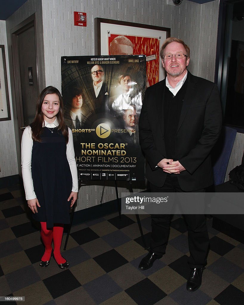 Actress Fatima Ptacek and Chief Executive of Shorts International Carter Pilcher attend the NYC Theatrical Opening of Oscar Nominated Short Films at IFC Center on February 1, 2013 in New York City.