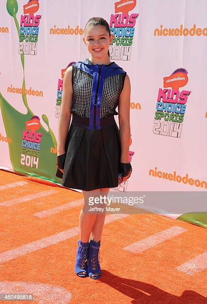 Actress Fatima Ptacek attends Nickelodeon Kids' Choice Sports Awards 2014 at Pauley Pavilion on July 17 2014 in Los Angeles California