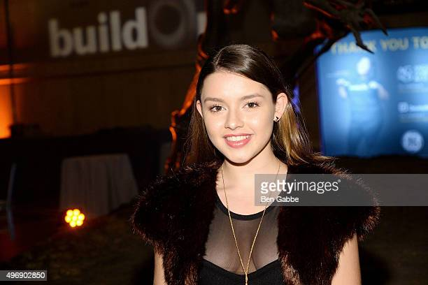 Actress Fatima Ptacek attends the 2015 BuildOn Gala at the American Museum of Natural History on November 12 2015 in New York City