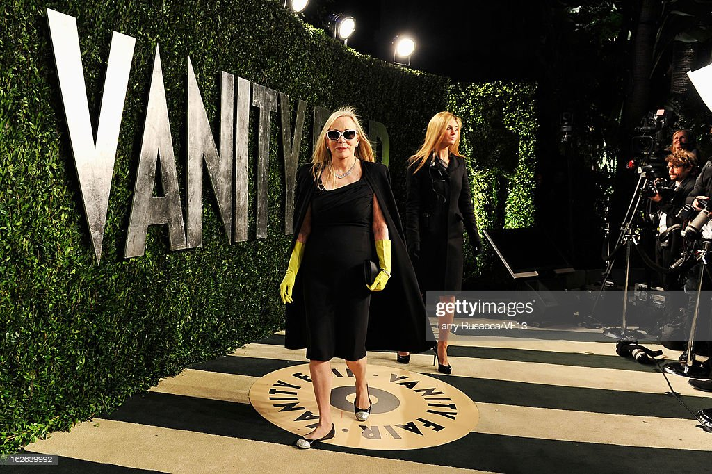 Actress Faye Dunaway arrives for the 2013 Vanity Fair Oscar Party hosted by Graydon Carter at Sunset Tower on February 24, 2013 in West Hollywood, California.