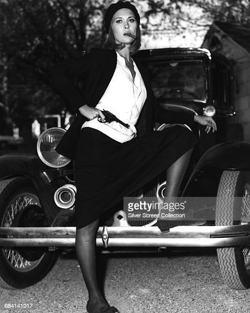 Actress Faye Dunaway as bank robber Bonnie Parker in a promotional still for the film 'Bonnie and Clyde' 1967