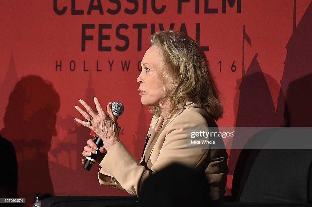 Actress <a gi-track='captionPersonalityLinkClicked' href=/galleries/search?phrase=Faye+Dunaway&family=editorial&specificpeople=204694 ng-click='$event.stopPropagation()'>Faye Dunaway</a> speaks onstage during 'Network' screening during day 4 of the TCM Classic Film Festival 2016 on May 1, 2016 in Los Angeles, California. 25826_008