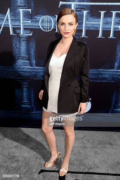 Actress Faye Marsay attends the premiere for the sixth season of HBO's 'Game Of Thrones' at TCL Chinese Theatre on April 10 2016 in Hollywood City
