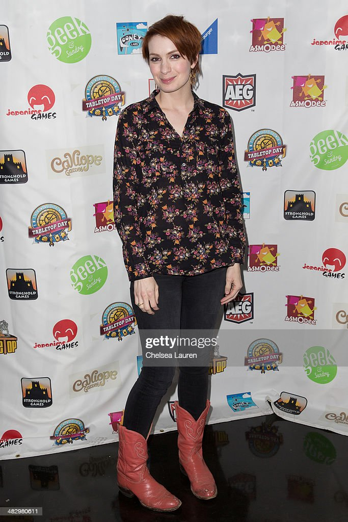 Actress Felicia Day attends 2014 international TableTop day at Arena Nightclub on April 5 2014 in Hollywood California