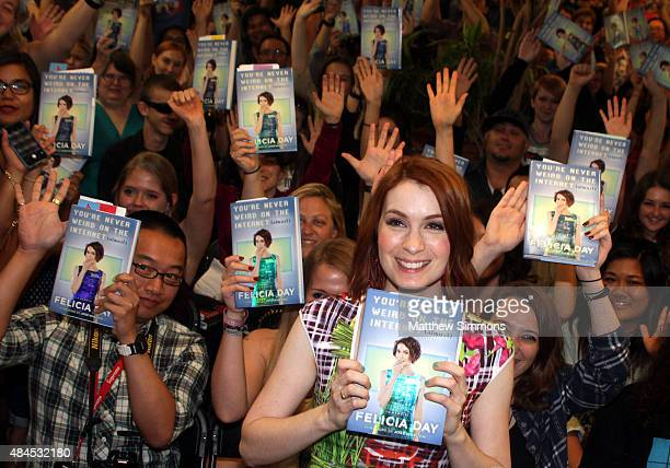 Actress Felicia Day attends a book signing for her new book 'You're Never Weird On The Internet ' at Skylight Books on August 19 2015 in Los Angeles...