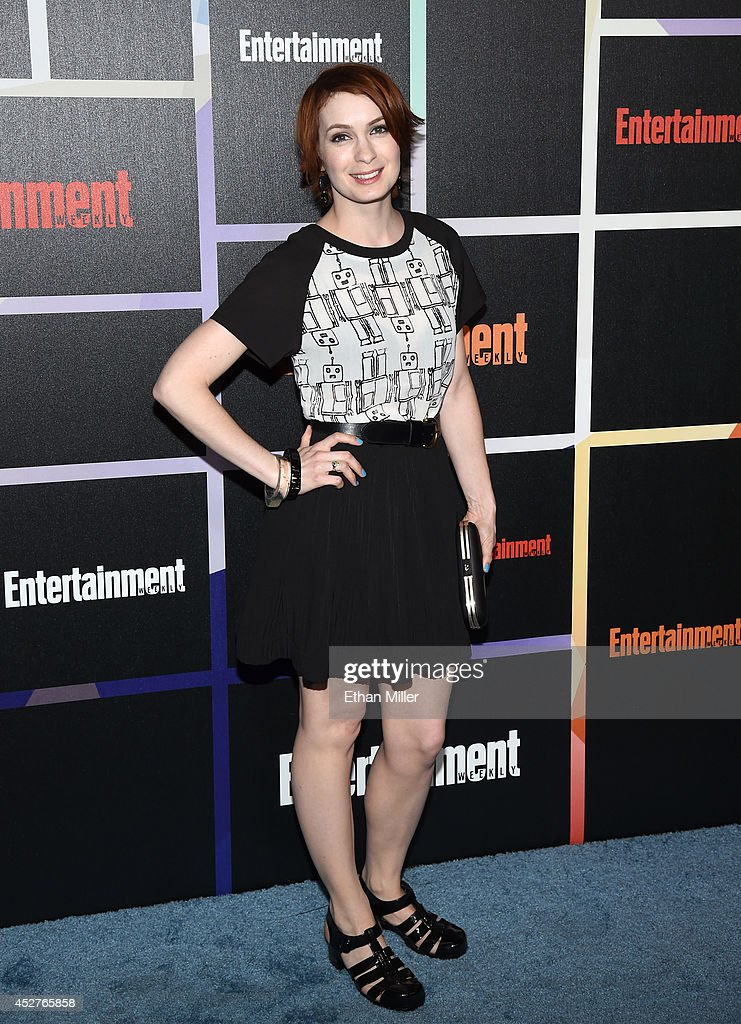 Actress Felicia Day attends Entertainment Weekly's annual ComicCon celebration at Float at Hard Rock Hotel San Diego on July 26 2014 in San Diego...