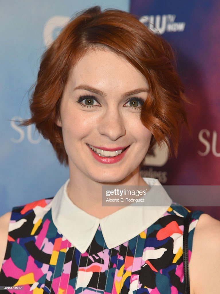 Actress Felicia Day attends the CW's Fan Party to Celebrate the 200th episode of 'Supernatural' on November 3 2014 in Los Angeles California