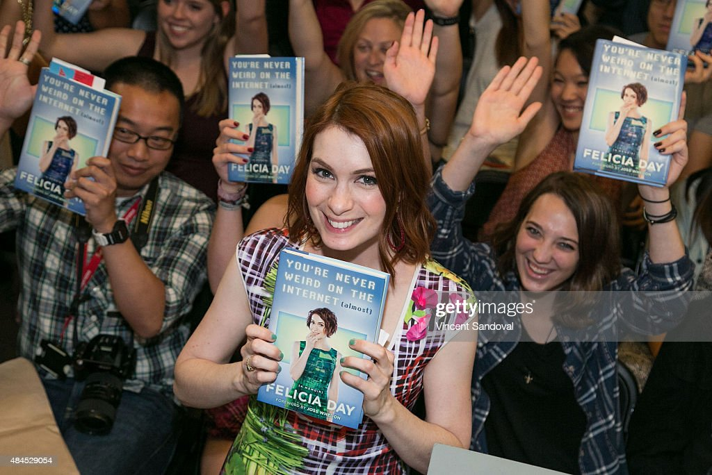 Actress Felicia Day signs and discusses her new book 'You're Never Weird On The Internet ' at Skylight Books on August 19 2015 in Los Angeles...