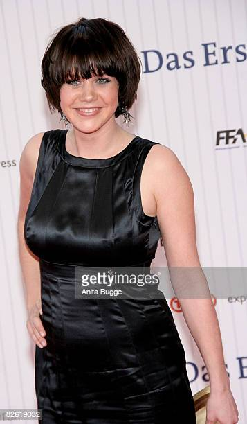 Actress Felicitas Woll arrives at the German Film Award at the Palais am Funkturm on April 25 2008 in Berlin Germany