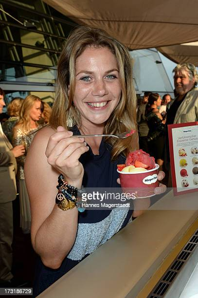 Actress Felicitas Woll attends the House of HaeagenDazs Barbecue Icecream Party at BMW World on July 9 2013 in Munich Germany