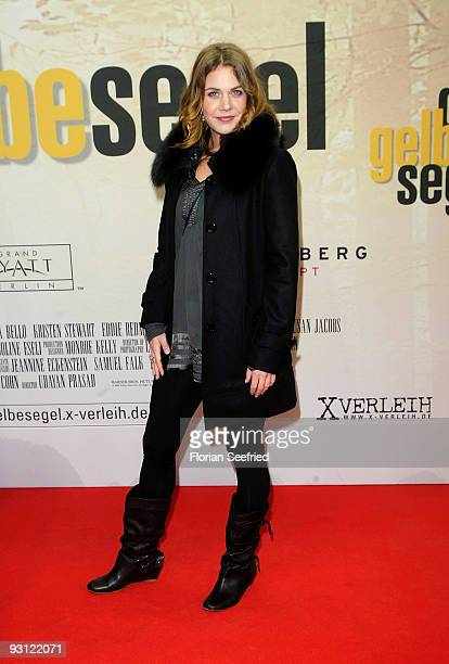 Actress Felicitas Woll attends the premiere of 'Das gelbe Segel' at CineMaxx at Potsdam Place on November 17 2009 in Berlin Germany