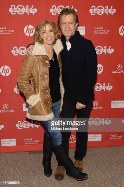 Actress Felicity Huffman and Actor and Filmmaker William H Macy attend the premiere of 'Rudderless' at the Eccles Center Theatre during the 2014...