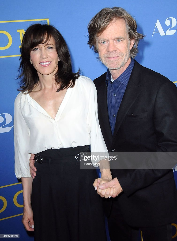 Actress Felicity Huffman and actor William H Macy arrive at the Premiere Of A24's 'Room' at the Pacific Design Center on October 13 2015 in West...