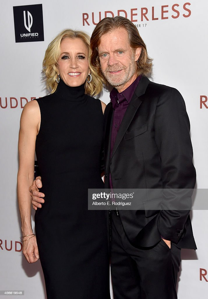 Actress Felicity Huffman and director/writer/actor William H Macy attend the Screening Of Samuel Goldwyn Films' 'Rudderless' at the Vista Theatre on...