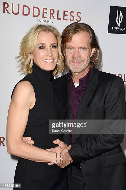 Actress Felicity Huffman and director/writer/actor William H Macy attend 'Rudderless' VIP Screening at the Vista Theatre on October 7 2014 in Los...