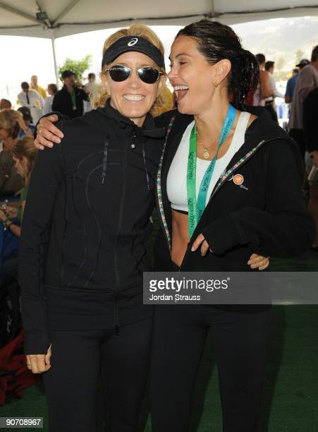 Actress Felicity Huffman and Teri Hatcher attend the 23rd Annual Nautica Malibu Triathalon at Zuma Beach on September 13 2009 in Malibu California