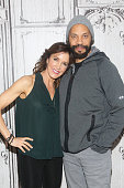 Actress Felicity Huffman and Writer John Ridley attend at AOL Studios In New York on January 5 2016 in New York City
