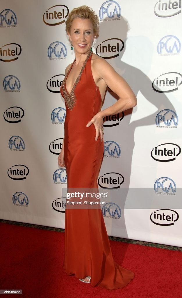 Actress Felicity Huffman arrives at the 2006 Producers Guild awards held at the Universal Hilton on January 22 2006 in Universal City California