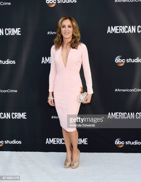 Actress Felicity Huffman arrives at the FYC Event for ABC's 'American Crime' at the Saban Media Center on April 29 2017 in North Hollywood California