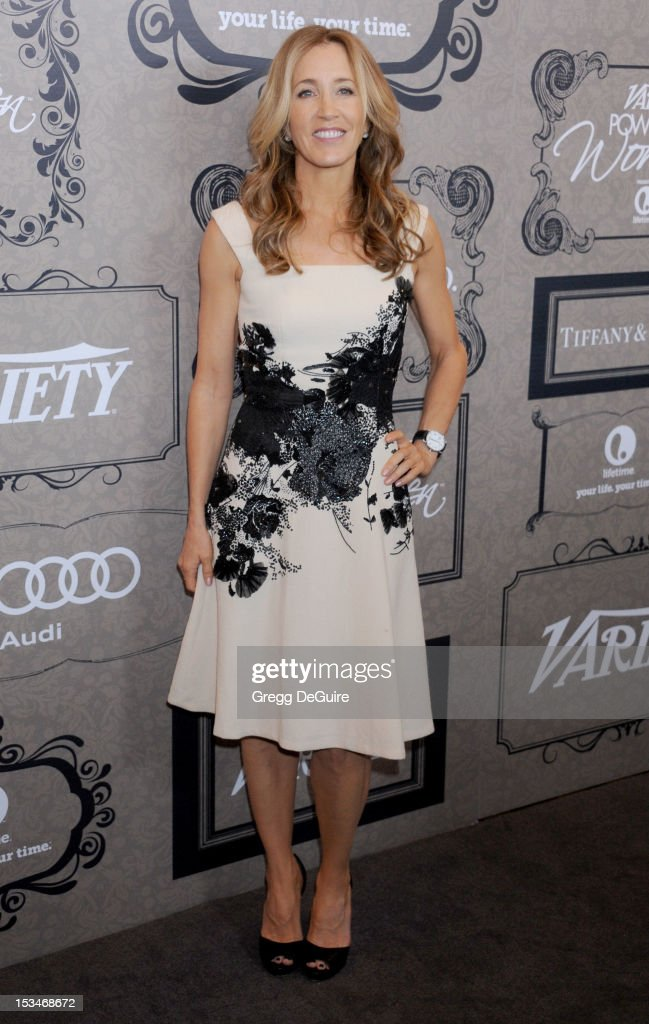 Actress Felicity Huffman arrives at Variety's 4th Annual Power Of Women event at the Beverly Wilshire Four Seasons Hotel on October 5, 2012 in Beverly Hills, California.