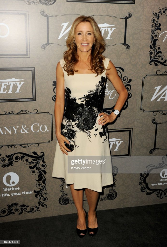 Actress Felicity Huffman arrives at Variety's Power of Women presented by Lifetime at the Beverly Wilshire Hotel on October 5, 2012 in Beverly Hills, California.