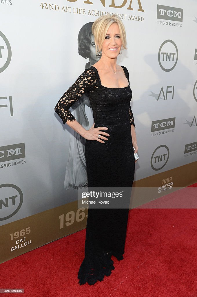 Actress <a gi-track='captionPersonalityLinkClicked' href=/galleries/search?phrase=Felicity+Huffman&family=editorial&specificpeople=201903 ng-click='$event.stopPropagation()'>Felicity Huffman</a> attends the 2014 AFI Life Achievement Award: A Tribute to Jane Fonda at the Dolby Theatre on June 5, 2014 in Hollywood, California. Tribute show airing Saturday, June 14, 2014 at 9pm ET/PT on TNT.