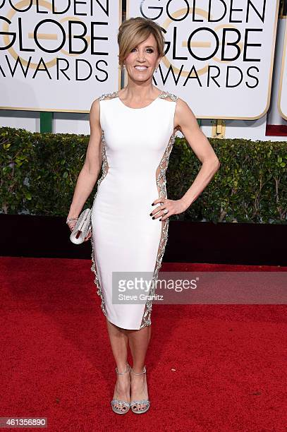 Actress Felicity Huffman attends the 72nd Annual Golden Globe Awards at The Beverly Hilton Hotel on January 11 2015 in Beverly Hills California