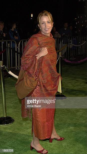 Actress Felicity Huffman attends the premiere of Dr Seuss'' 'How The Grinch Stole Christmas' November 8 2000 in Los Angeles CA