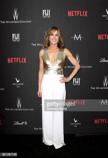 Actress Felicity Huffman attends The Weinstein Company and Netflix Golden Globe Party presented with FIJI Water Grey Goose Vodka Lindt Chocolate and...