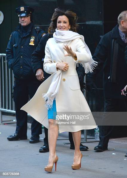 Actress Felicity Huffman tapes an interview at 'Good Morning America' at the ABC Times Square Studios on January 6 2016 in New York City