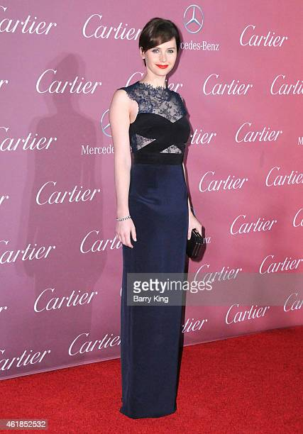 Actress Felicity Jones arrives at the 26th Annual Palm Springs International Film Festival Awards Gala Presented by Cartier at Palm Springs...