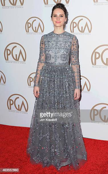 Actress Felicity Jones arrives at the 26th Annual PGA Awards at the Hyatt Regency Century Plaza on January 24 2015 in Los Angeles California