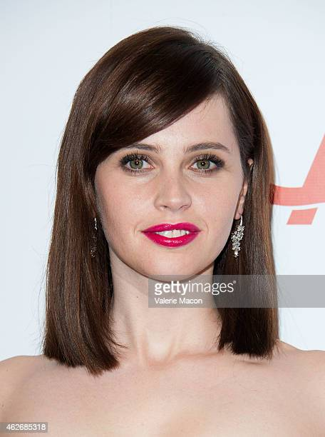 Actress Felicity Jones arrives at the AARP The Magazine's 14th Annual Movies For Grownups Awards Gala at the Beverly Wilshire Four Seasons Hotel on...