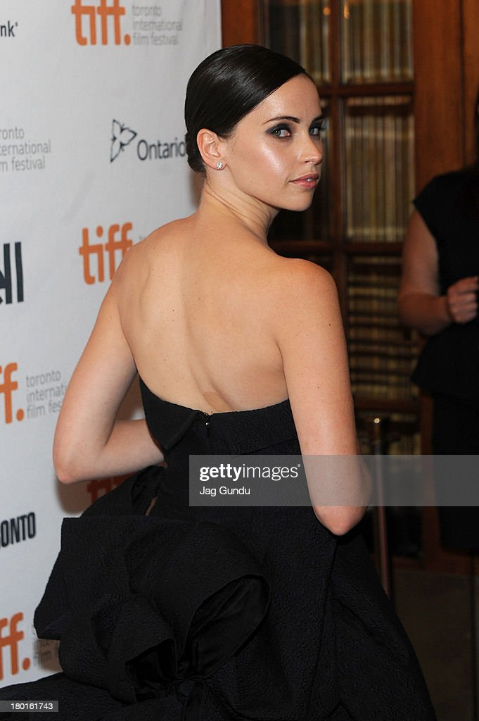 Actress Felicity Jones arrives at 'The Invisible Woman' Premiere during the 2013 Toronto International Film Festival at The Elgin on September 9, 2013 in Toronto, Canada.