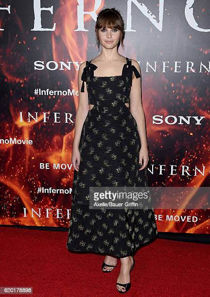 Actress Felicity Jones arrives at the screening of Sony Pictures Releasing's 'Inferno' at DGA Theater on October 25 2016 in Los Angeles California