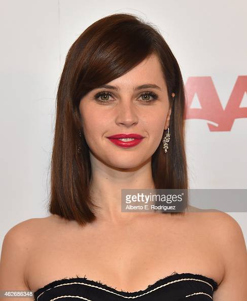 Actress Felicity Jones arrives to AARP The Magazine's 14th Annual Movies For Grownups Awards Gala at the Beverly Wilshire Four Seasons Hotel on...
