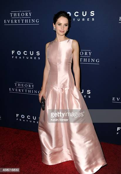 Actress Felicity Jones arrives to the Premiere of Focus Features' 'The Theory Of Everything' at AMPAS Samuel Goldwyn Theater on October 28 2014 in...