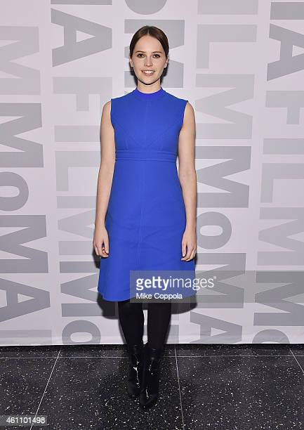 Actress Felicity Jones attends MoMA's Contenders Series screening of 'The Theory Of Everything' at the Museum of Modern Art on January 6 2015 in New...