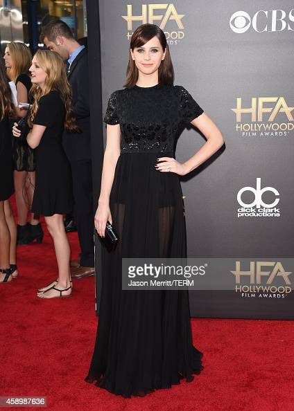 Actress Felicity Jones attends the 18th Annual Hollywood Film Awards at The Palladium on November 14 2014 in Hollywood California