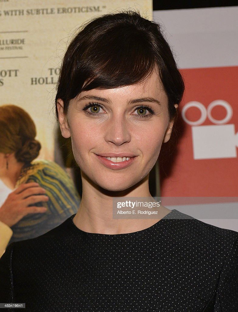 Actress Felicity Jones attends the 2013 Variety Screening Series of 'The Invisible Woman' at ArcLight Cinemas on December 3, 2013 in Hollywood, California.