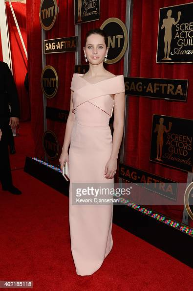 Actress Felicity Jones attends the 21st Annual Screen Actors Guild Awards at The Shrine Auditorium on January 25 2015 in Los Angeles California