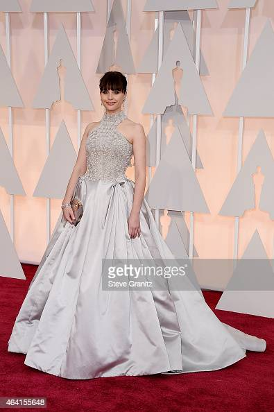 Actress Felicity Jones attends the 87th Annual Academy Awards at Hollywood Highland Center on February 22 2015 in Hollywood California