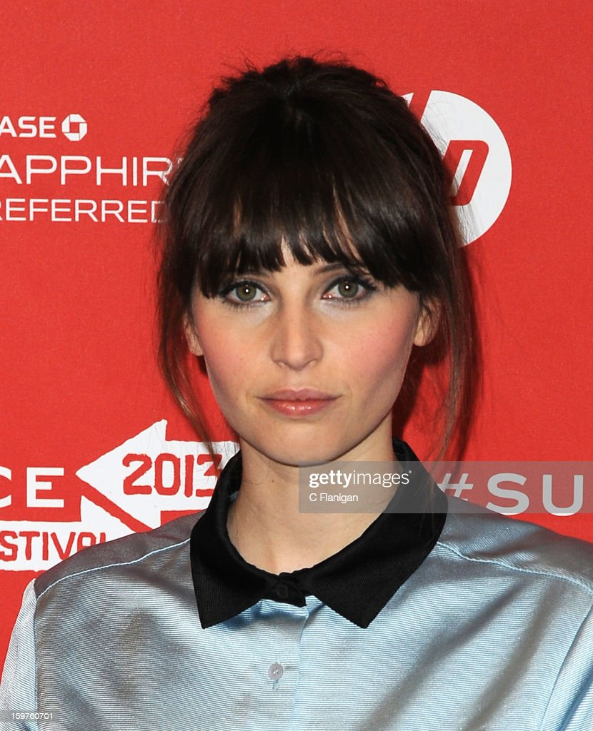 Actress Felicity Jones attends the 'Breathe In' premiere at Eccles Center Theatre during the 2013 Sundance Film Festival on January 19, 2013 in Park City, Utah