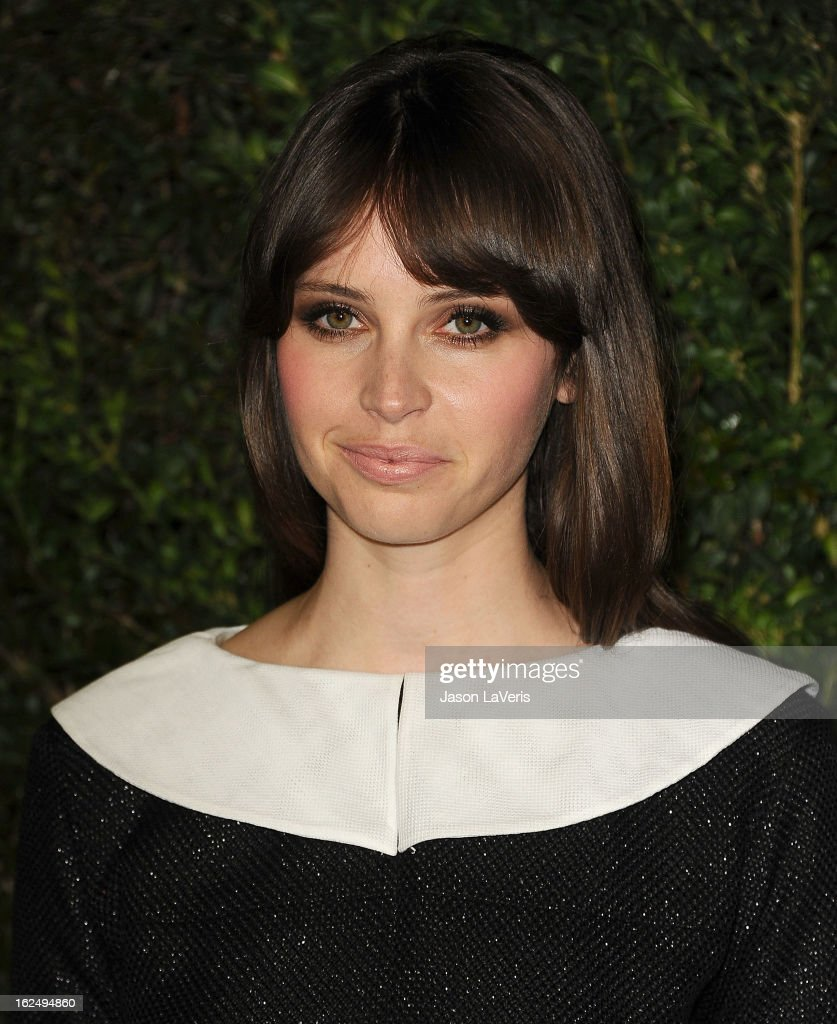 Actress Felicity Jones attends the Chanel Pre-Oscar dinner at Madeo Restaurant on February 23, 2013 in Los Angeles, California.