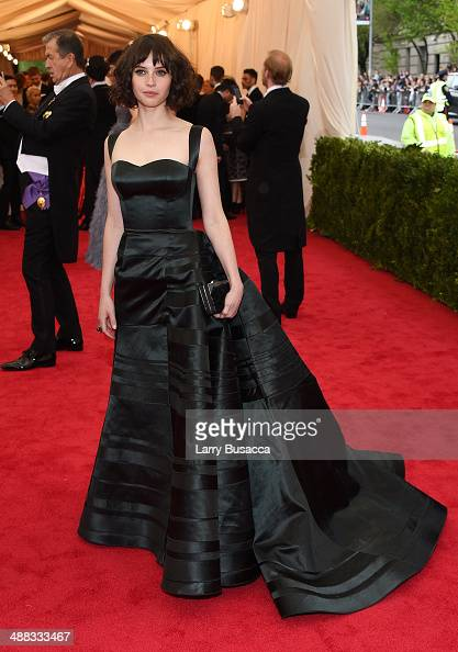 Actress Felicity Jones attends the 'Charles James Beyond Fashion' Costume Institute Gala at the Metropolitan Museum of Art on May 5 2014 in New York...