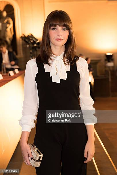 Actress Felicity Jones attends the INFERNO Photo Call Press Conference at The Hall of the Five Hundred on October 6 2016 in Florence Italy